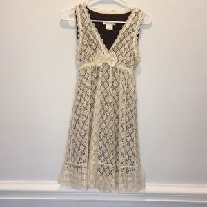 Charlotte Russe Beige Lace Dress Small